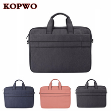 KOPWO NEW Laptop Briefcase Bag Universal Notebook Single Shoulder Messenger Bag for Apple Macbook Huawei Xiaomi Dell 13″ 14″ 15″