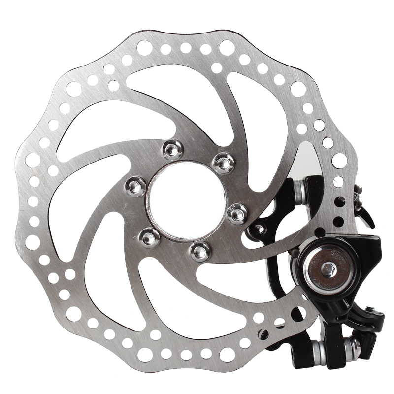 Bicycle <font><b>Brake</b></font> Disc Set Stainless Steel Bicycle Bike Disc <font><b>Brake</b></font> Rotor F:180 R:160 with Cliper 160mm For MTB Disk <font><b>Brake</b></font> Use