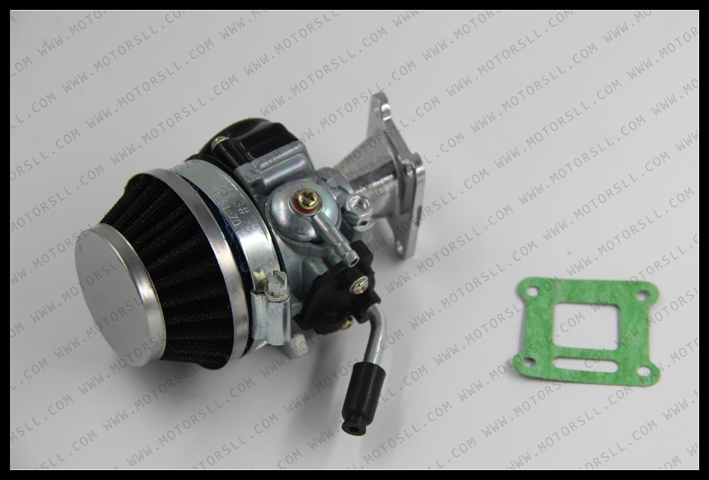Top quality China Carburetor Carb Carby Steel 60mm Air Filter 2stroke 43 47cc49cc Mini Moto Pocket Bike ATV Quad Minicross in Carburetor from Automobiles Motorcycles