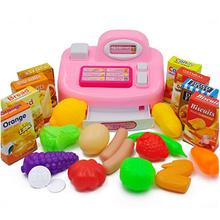 Kids Pretend Play Toys Simulated Supermarket Shopping Checkout Kitchen Toy Set T