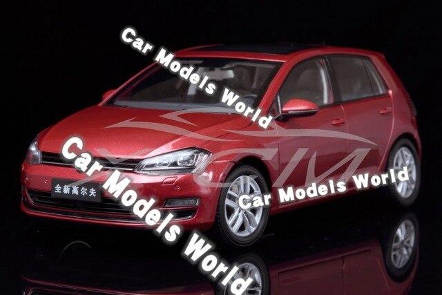 Modello di auto per il Golf 7 1:18 (Rosso) + PICCOLO REGALO!!!!!!!!!