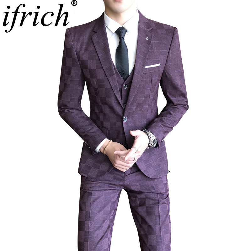 Plaid Blazer Hommes De Luxe Mens Blazer Veste Mince Hommes Occasionnels Blazer Coton Slim Angleterre Costume Blaser Masculino Mâle Veste Blazer