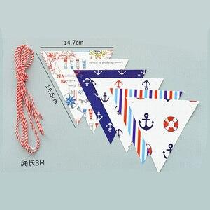1,8 м/компл. якорь в морском стиле флаги для плетения DIY Красочные Висячие знаки для дня рождения Вечеринка юбилей украшения 5Z
