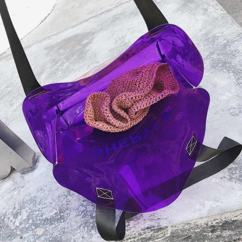 CASMOR Compras Mulheres Tamanho Grande Bolsas 2019 do Desenhador de Moda Bolsas de PVC Claro e Transparente Ombro Bolsa Alça Superior Feminino