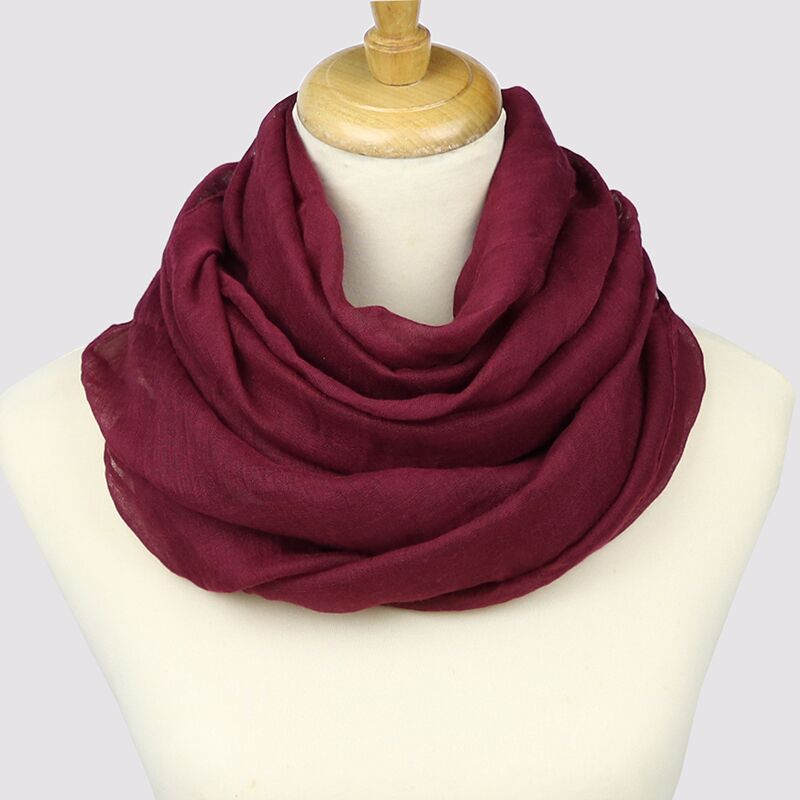 Neelamvar 2019 autumn winter Scarf Women big size Solid cotton Scarves echarpes foulards femme shawl Female new hijab 14 colors