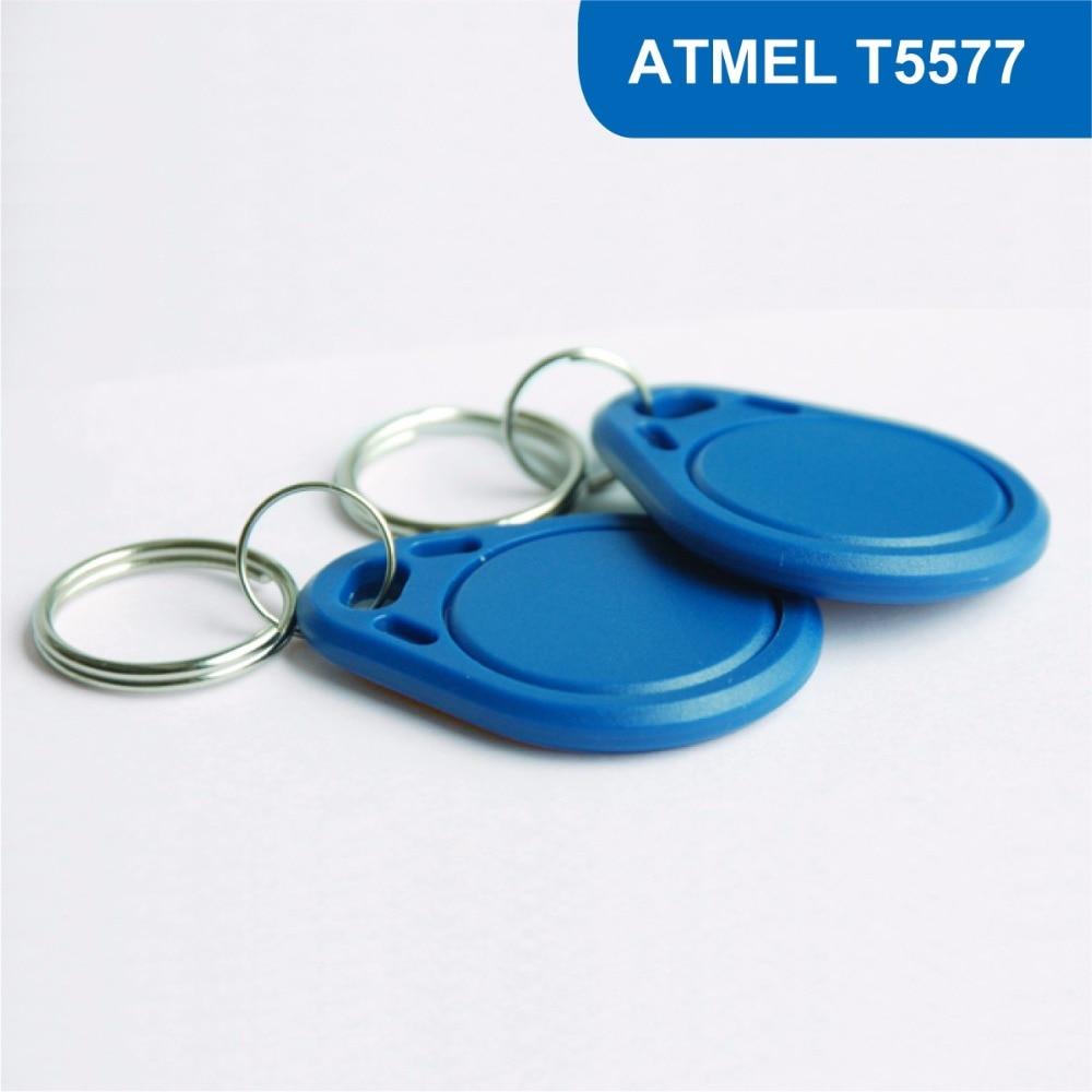 KT03 RFID Key Tag, RFID Key Fob for Hotel Lock proximity keyfob Smart Access Control 125KHZ 330 BITS R/W With  ATMEL T5577 Chip hotel lock system rfid t5577 hotel lock gold silver zinc alloy forging material sn ca 8037