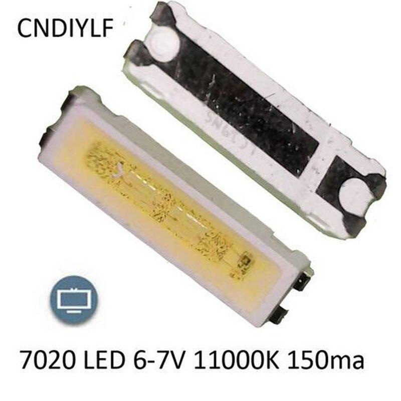 100pcs <font><b>7020</b></font> <font><b>LED</b></font> 6v Backlight 1W 85LM Cool white LCD Backlight for TV Application smd <font><b>7020</b></font> <font><b>diode</b></font>