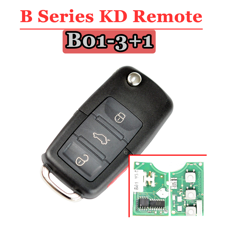 Image 2 - Free shipping (5pcs/lot) B01 kd900 remot 3+1 button B series remote key for VW Style For KD900(KD200) Machine-in Sensor & Detector from Security & Protection
