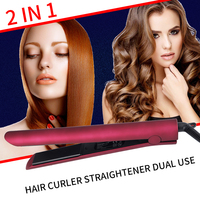 Curl Machine Curly Hair TWO in One Fashion Portable Regulating Temperature Salon