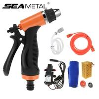 12V Car Washer Gun Pump High Pressure Auto Cleaner Care Washing Gun Pump Electric Cleaning Car Wash Maintenance Tool Accessories