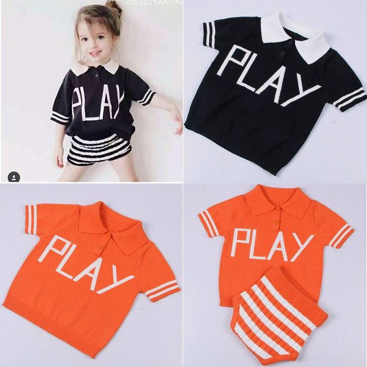 2017 New Fashion 2pcs/lot Clothes Set Baby Girls/Boys POLO Shirt Set Children's Clothes Infant Sweatshirt Kids Short pp pants аксессуар для волос brand new 2 lot hairdisk