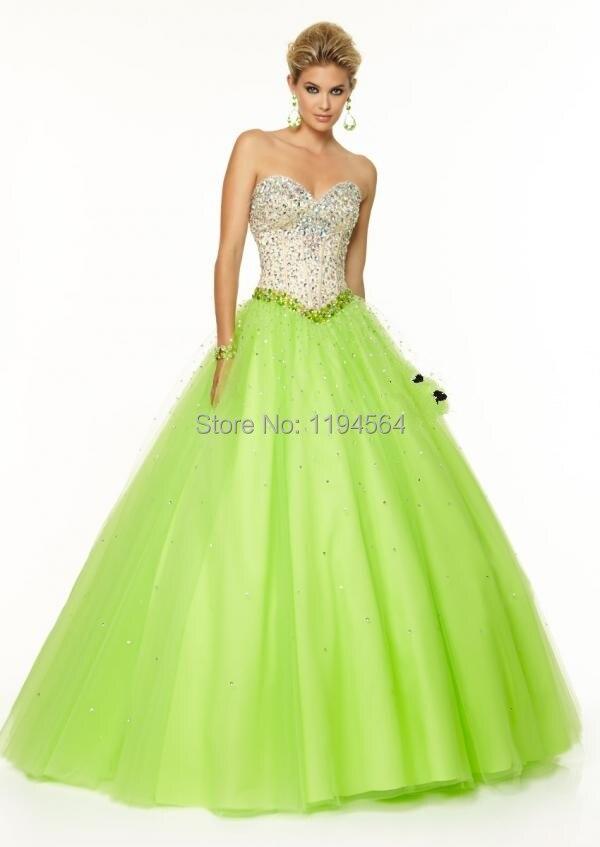 Popular Lime Green Ball Dress-Buy Cheap Lime Green Ball Dress lots ...