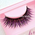 Handmake 10 pairs black Purple Crisscross Natural false eyelashes fake eye lashes Kit Beauty Makeup Tool J46