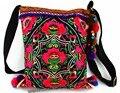 Hmong Tribal Ethnic Thai Indiano Boho do vintage saco do mensageiro saco de ombro bordado, pom pom guarnição SYS-443