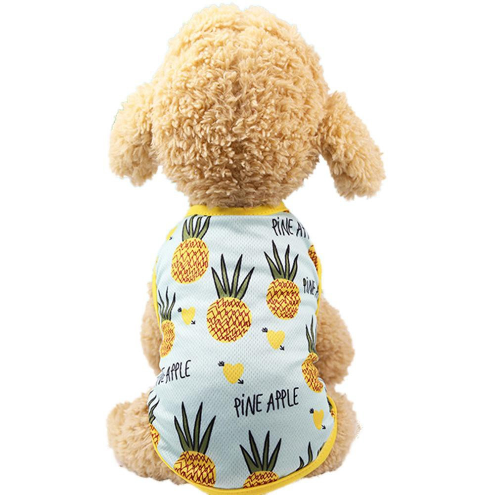 Ambitieus Zacht Ademend Hond Kat Vest Mouwloze Leuke Huisdier Jurk Kostuum Paar Kleding Rok Bloemen Kleding Ananas Mesh Zomer Groot Assortiment