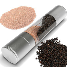 High Quality Cooking Tools 2 IN 1 Spice Salt & Pepper Mill Premium Salt Shaker Spice Herb Pepper Grinder Mill -50