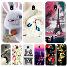 Phone Case For Samsung Galaxy J3 J4 J5 J6 J7 2016 2017 Soft Silicone Cute Cat Painted Back Cover For Samsung J2 J5 J7 Prime Case цена