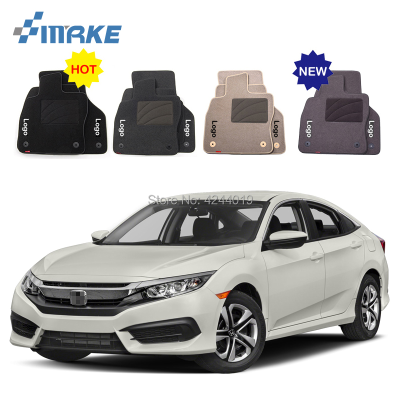 For Honda Civic Car Floor Mats Front Rear Carpet Complete Set Liner All Weather Waterproof Customized Car Styling for honda fit car floor mats front rear carpet complete set liner all weather waterproof customized car styling
