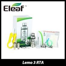 100%เดิมEleaf Lemo 3เครื่องฉีดน้ำบุหรี่อิเล็กทรอนิกส์4มิลลิลิตรE-ของเหลวความจุที่มีRTAพิมพ์ฐานA E-cig Lemo 3ถังVaporizer