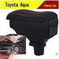 Подлокотник для Toyota Aqua, центральный контейнер для хранения, подстаканник, пепельница, аксессуары для стайлинга интерьера автомобиля