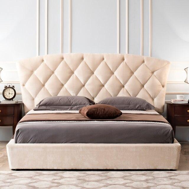 Hermosa Muebles De Cabecera Tufted Rey Blanco Motivo - Muebles Para ...