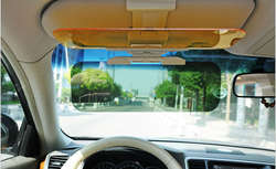 Мудрый путешествия 2 в 1 зрение защита Зеркала Clip-On Фары для автомобиля Защита от солнца головного света козырек автомобильные Защита от