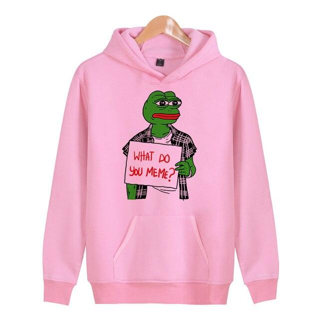 35b9ea6386c Memes pepe Meme Spring Hoodies Men Slim Hoodies Men Tracksuit Hip Hop  Hoodies And Sweatshirts X4324