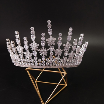 New Bridal Classical Couronne De Mariage Crowns 2019 Luxury Elliptical Zircon Wedding Party Big Crown For Women