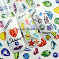3 Model Cute Sea Life Cat Animal 3D Diamond Shape Nail Art Water Transfer Stickers Decorations Tips F#