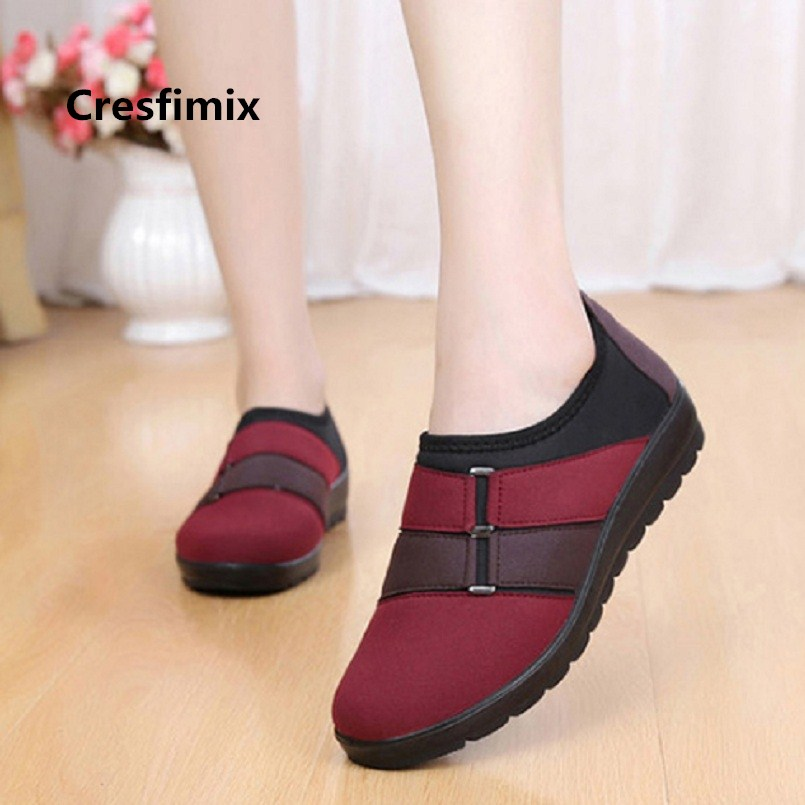 Cresfimix zapatos de mujer women casual spring summer slip on loafers lady cute comfortable soft flat shoes leisure shoes a2386