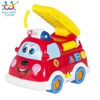 Бесплатная доставка Детские игрушки грузовик пожарная машина автомобиль с музыкой + свет мальчик игрушки испанский и Английская литератур...