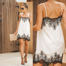 New Fashion 2019 Summer white dress strapless applique womens sexy strap lace mini dresses