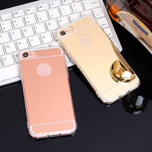 case For OPPO F5 Case A73 A73T Cover Fashion Luxury Rose Gold Mirror Case For OPPO F 5 case(China)