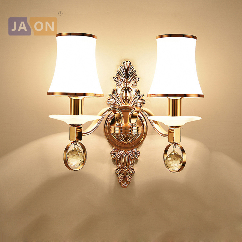 led e14 Nordic Iron Glass Crystal Gold White LED Lamp LED Light Wall lamp Wall Light Wall Sconce For Bedroom led nordic iron crystal gold clear led lamp led light wall lamp wall light wall sconce for bedroom corridor