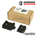 KAMERAR 701HDV 577 Rapid Connect Adapter Clamp with QR Plate 501PL compatible Manfrotto 701HDV