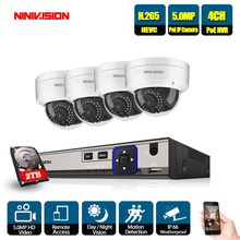 NINIVISION CCTV Security Audio NVR System 4CH 5MP POE Kit SONY Home Outdoor IP Camera P2P Surveillance Set