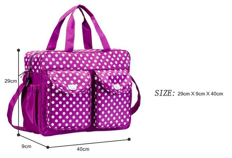 40299cm Dot Baby Changing Diaper Bag For Mom Messenger Multifunctional Maternity Nappy Bags Mother Milk Insulation Bags (4)