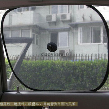 2X Car Side Window SunShade Black Mesh Visor Anti-UV Cover Shield For Baby Kid image