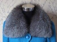リアルフォックスファーの襟女性コート冬100%天然キツネ毛皮スカーフ襟ファッションナチュラル暖かい毛皮固体襟スカーフ852