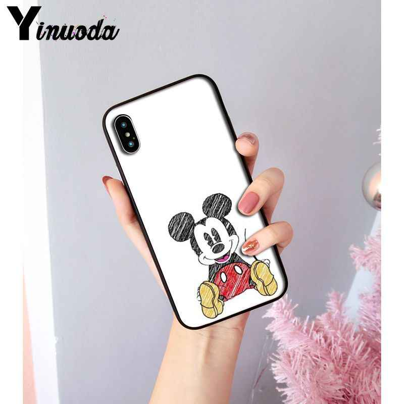 Yinuoda Beauty Beast Bishoujo จูบ Mickey Minnie TPU สำหรับ iphone ของ Apple iphone 8 7 6 6S Plus X XS MAX 5 5S SE XR ฝาครอบ