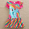 Аккуратные Розничная девочка одежда Lovelydresses детская одежда my little pony девушки платье хлопок девушка одежда SH6010