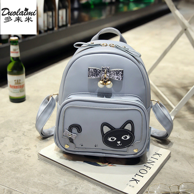 bb27dd659fe8 Best buy fashion women small backpack vintage cats backpack casual ladies mini  backpack school bags teenagers girls mochilas mujer 2017 online cheap