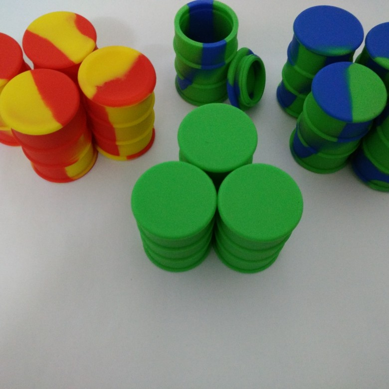Oil Drum Barrel Silicone Containers For Wax Non Stick Food Grade Silicone Bho Container Oil Container 100 Pcs /lot
