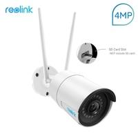 Reolink Camera WiFi 4MP Wireless IP Camera Outdoor 2.4G/5G HD IP Cam Bullet Surveillance Weatherproof Security Cam RLC 410W 4MP