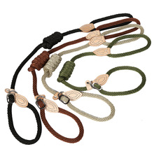 Hemp rope Dog Leash P Chain Slip Collar pet Walking Leads Dog Outdoor sport Leash puppy pet Traction For small Medium Large Dogs