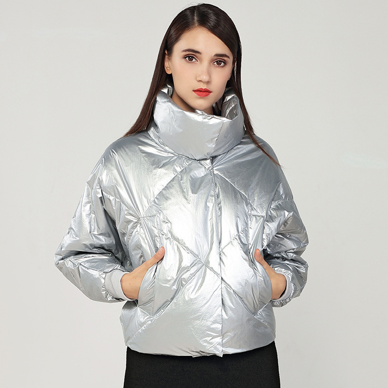 Veste Livraison Nouveau Femmes Downcoat Silver Argent Stand Gratuite Mode Femelle Spéciale 2019 Noir Desiner De Offre black Fille Court Collier Dame rFzUrSqn