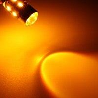 Best Promotion 1 Pair 5730 1157 LED Turn Signal Light Bulb Dual Color Switchback 2 Resistors