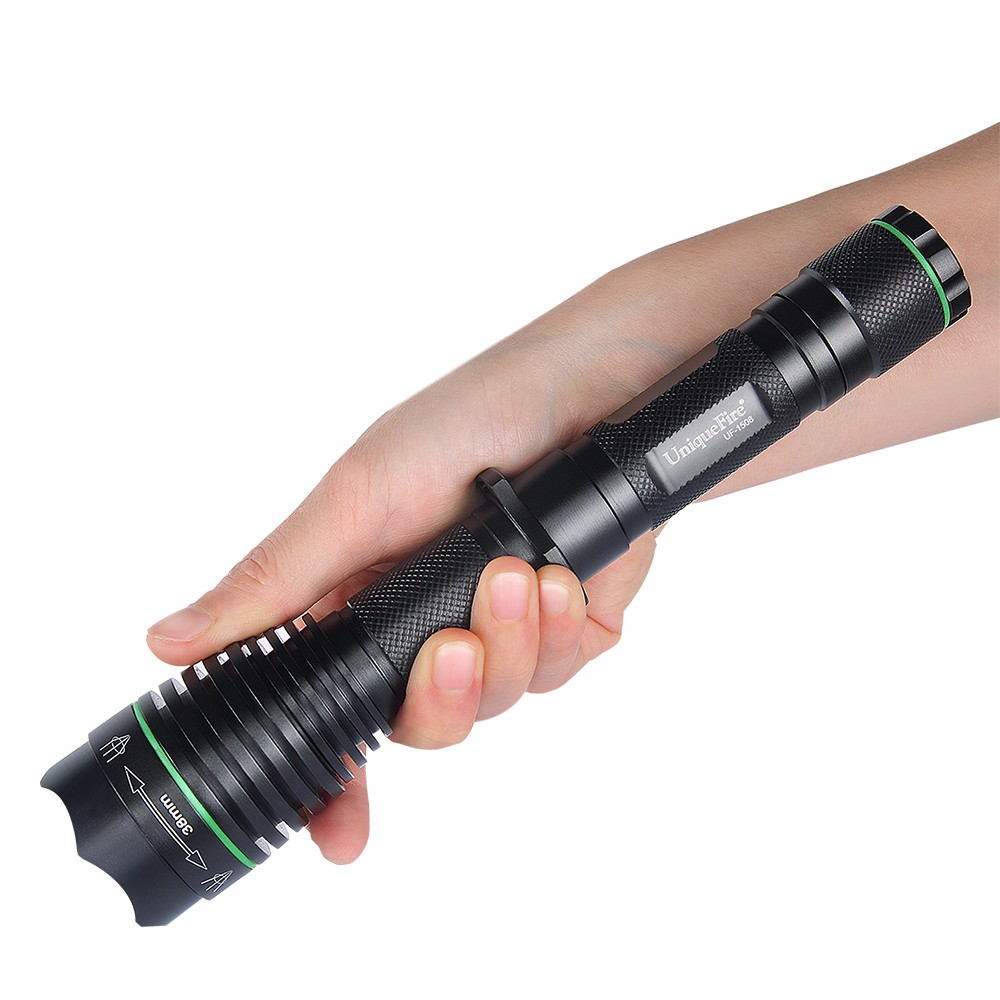 UniqueFire UF-1508-38 Hunting Vision Memory LED Flashlight Infrared Light 940nm Lens+50MM Head+67MM Head+75MM Head + Charger9