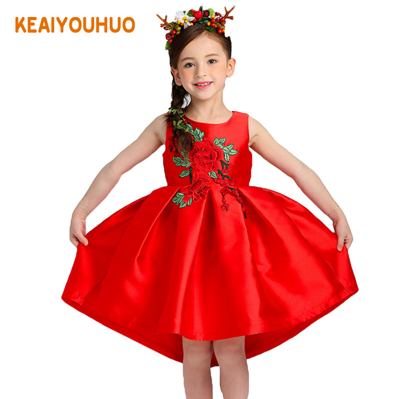 Подробнее о 2017 New Summer Wedding Dress for Flower Girls Princess Party Children Ball Gown Dresses Kids Formal Clothing 3 4 5 6 7 8 9 10Y zika new children puff dress little girl clothing summer flower princess costumes kids dresses for girls wedding party 3 8y