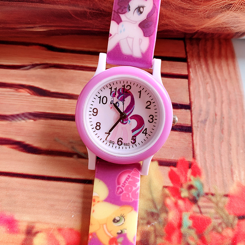 2019 New Pony Print Silicone Band Kids Watch Girl Cute Cartoon Unicorn Quartz Watch Wrist Watch